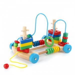 Деревянная игрушка  Каталка-лабиринт Яркие цвета Фабрика фантазий