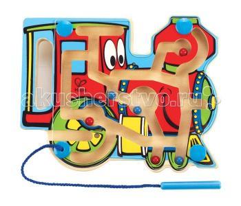 Деревянная игрушка  Лабиринт Паровозик Е1701 Hape