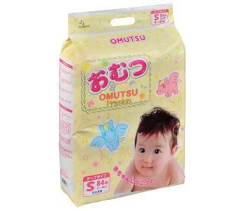 Подгузники детские S (4-8 кг) 84 шт. Omutsu