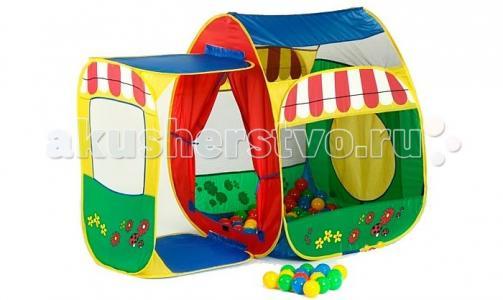 Дом-палатка + 100 шаров Домик с пристройкой Calida