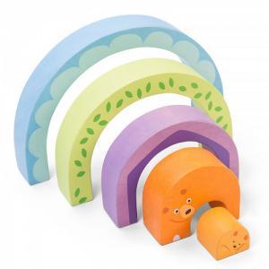 Деревянная игрушка  Пазл Мишка в радуге LeToyVan