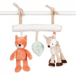 Подвесная игрушка  Soft toy Fanny & Oscar Оленёнок и Лисёнок на завязках 26см Nattou