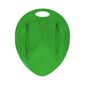 Санки-ледянка Снежный гонщик, салатовые Пластик. Цвет: зеленый