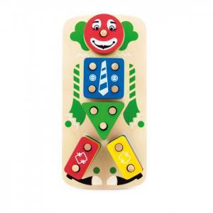 Деревянная игрушка  Клоун Пирамидка Мир деревянных игрушек