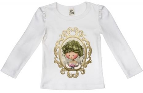 Джемпер  Маленькая леди, цвет: бежевый Lucky Child