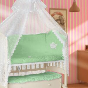 Комплект в кроватку  Корона (7 предметов) Мой Ангелок