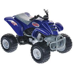 Мотоцикл  Quadrobike Monster 1:16, синий Autotime. Цвет: синий