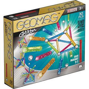 Магнитный конструктор  Glitter, 30 деталей Geomag. Цвет: светло-зеленый