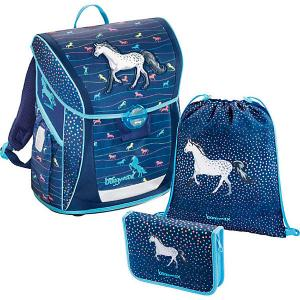 Ранец с наполнением Hama BaggyMax Fabby Modern Horse. Цвет: синий