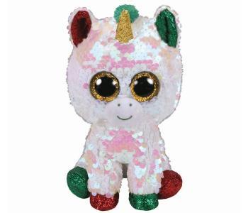 Мягкая игрушка  Стардаст рождественский единорог с пайетками 15 см TY