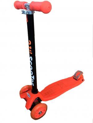 Самокат  LK-505, цвет: оранжевый Little King