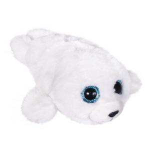Мягкая игрушка  Глазастик тюлень 10х12х15 цвет: белый Fancy
