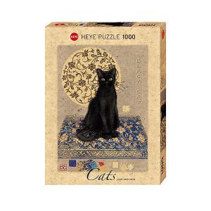 Пазлы  Черный кот, 1000 деталей, с фольгой HEYE