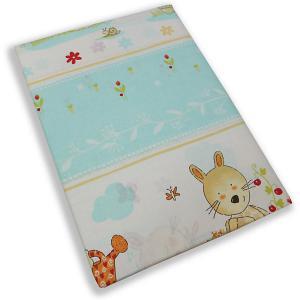 Комплект постельного белья  Зайчик-садовод бирюзовый Soni Kids. Цвет: бирюзовый