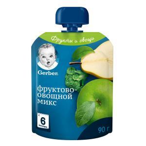 Пюре  фруктово-овощной микс, с 6 месяцев, 90 г Gerber