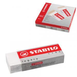 Резинка стирательная  прямоугольная 62х22х11мм белый Stabilo