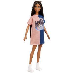 Кукла Barbie Игра с модой в сине-розовом платье, 29 см Mattel