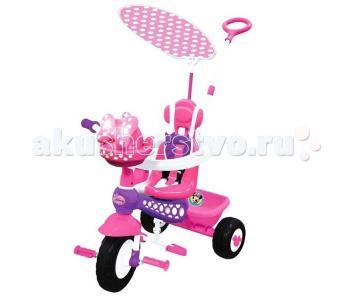 Велосипед трехколесный  Минни Маус с ручкой Kiddieland