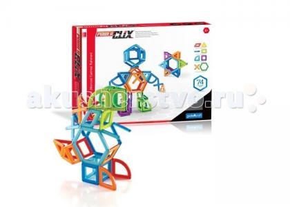 Конструктор  магнитный PowerClix Frames 74 деталей Guidecraft