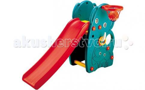 Горка  Слон с баскетбольным кольцом Happy Box