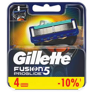 Сменные кассеты  Fusion5 ProGlide 4 шт Gillette