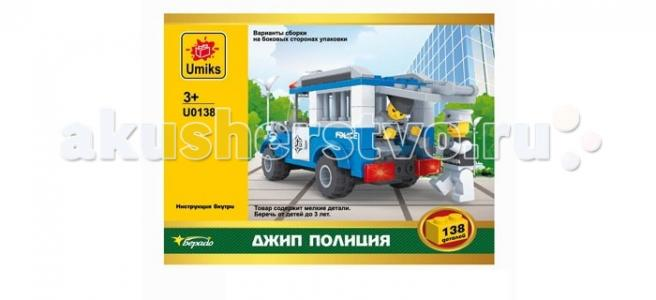 Конструктор  Джип Полиция 138 деталей Umiks