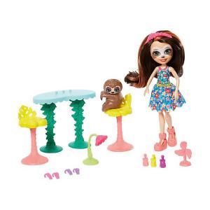 Игровой набор Enchantimals Маникюрный салон с Села Ленивец Mattel. Цвет: разноцветный