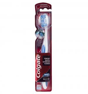Зубная щетка  360 Optic White, цвет: голубой Colgate