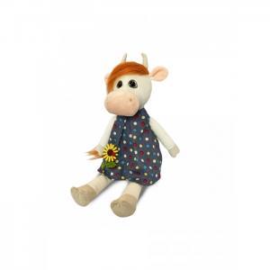 Мягкая игрушка  Коровка Глаша в платье с цветочком 23 см Maxitoys