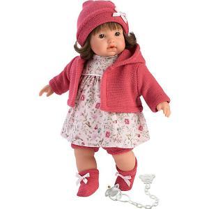 Кукла  Айсель, 33 см, со звуком Llorens. Цвет: розовый/белый