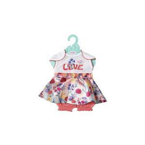 Платье Baby Born c шортиками для куклы 43 см, белое Zapf Creation. Цвет: белый