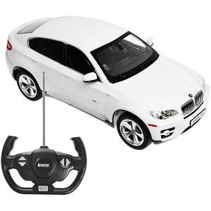 Радиоуправляемая машина  BMW X6 1:14, белая Rastar. Цвет: белый