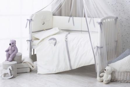 Комплект в кроватку  Bonne Nuit из сатина (6 предметов) Perina