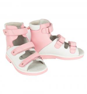 Сандалии , цвет: белый/розовый Orthoboom