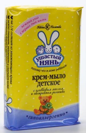 Крем-мыло  с экстрактом ромашки, 90 гр Ушастый Нянь