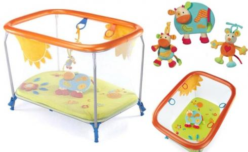 Манеж  Soft & Play Green Farm, цвет: зеленый/оранжевый/голубой Brevi