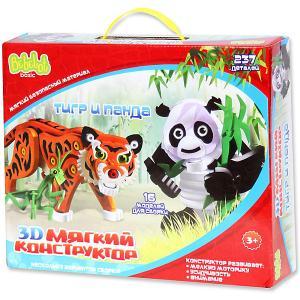 Мягкий 3D конструктор  Тигр и панда, 237 деталей Bebelot