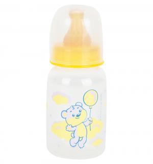 Бутылочка  Мои любимые животные полипропилен с рождения, 120 мл, цвет: желтый Курносики