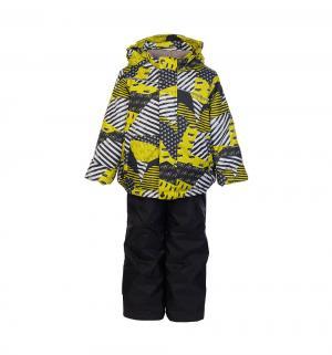 Комплект куртка/полукомбинезон  Кирус, цвет: серый/салатовый Oldos