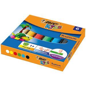 Пластилин  «Kids», 6 цветов BIC. Цвет: разноцветный