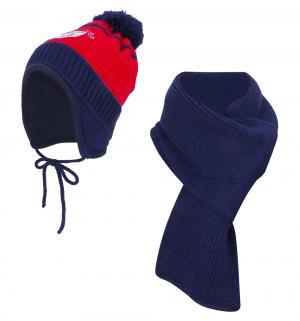 Комплект шапка/шарф , цвет: красный Flobaby