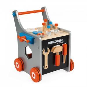 Каталка-игрушка  Тележка BricoKids 25 аксессуаров Janod