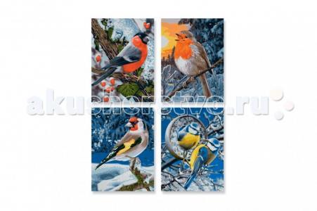 Картина по номерам 4 шт. Птицы зимой 18х24 см Schipper