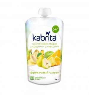 Пюре  фруктовый смузи с 6 месяцев, 100 г Kabrita