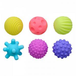Мягкие массажные шарики-прорезыватели 6 шт. Bambini