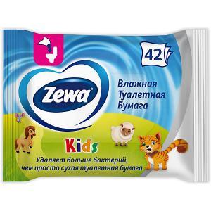 Детская влажная туалетная бумага , 42 шт Zewa