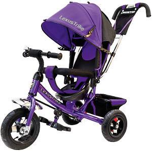 Трехколесный велосипед  с надувными шинами 10 и 8 Lexus Trike. Цвет: лиловый