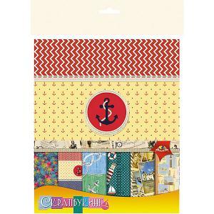 Бумага для скрапбукинга Апплика Путешествия, 12 листов. Цвет: разноцветный