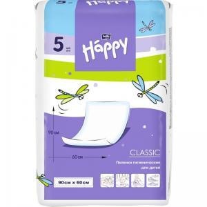 Пеленки  Baby Happy детские Classic 60х90 см, 5 шт Bella
