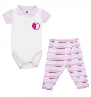 Комплект боди/брюки , цвет: розовый Hudson Baby